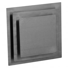 Ventilatierooster vierkant model Ø 100mm, met dubbele kap