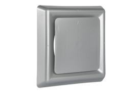 Vierkant afzuigventiel met klemmen Ø 125mm, aluminium