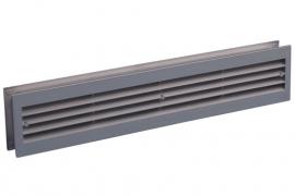 Deurventilatierooster 455x90mm, aluminium