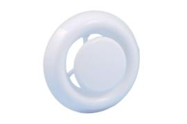 Afzuigventiel met klemmen Ø 125mm, wit