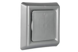 Vierkant afzuigventiel met klemmen Ø 100mm, aluminium