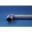 Flexibele aluminium afvoerslang Ø 152mm incl. klembanden, lengte 1,5 meter