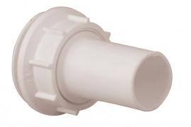 Doorvoerset (tule + moer) Ø 32mm wit