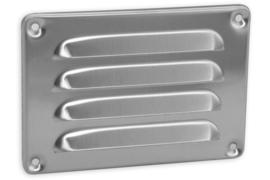 Schoepenrooster 130x90mm, aluminium