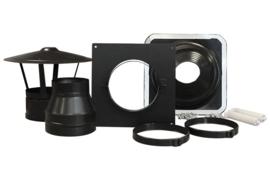 DW 150mm accessoireset dakdoorvoer zwart