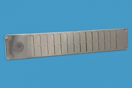 RVS schuifrooster 500x90mm met draaiknop