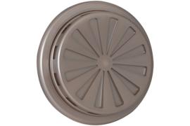 Verstelbaar ventilatierooster Ø 100-150mm, RVS