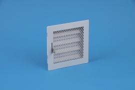 Metalen schuifrooster 125x125mm afsluitbaar, met schuif