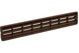 Plintrooster 458x75mm, lichtbruin