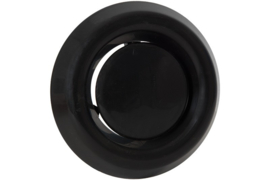 Afzuigventiel met klemmen Ø 100/125mm, zwart