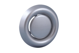 Afzuigventiel met klemmen Ø 125mm, aluminium