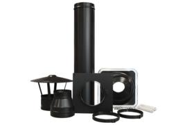 DW 150mm dakdoorvoerset 0-15° zwart