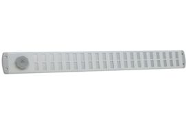 Schuifrooster 650x65mm Bold aluminium