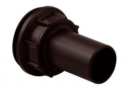Doorvoerset (tule + moer) Ø 32mm zwart