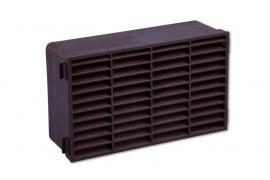 Gevelklep/dubbelsteens ventilatierooster 227x133mm, bruin