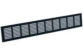 Plintrooster 600x80mm, zwart