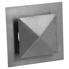 Ventilatierooster vierkant model Ø 125mm, met pyramide kap