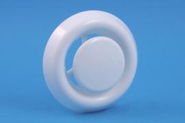 Afzuigventiel met klemmen Ø 100/125mm, wit