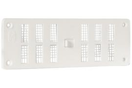 Afsluitbaar ventilatierooster 165x60mm schuif, wit