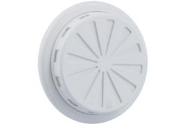 Verstelbaar ventilatierooster Ø 100-150mm, wit