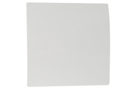 Voorfront tbv designventilator/designrooster Ø 125mm, Wit kunststof ( gebogen )