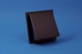 Buitenrooster schuine kap Ø 150mm, met verdekte bevestiging, titanium