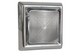 Vierkant afzuigventiel met klemmen Ø 125mm, chroom