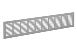 Plintrooster 1000x80mm, F1 aluminium geanodiseerd