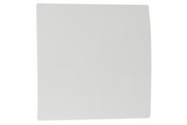 Voorfront tbv designventilator/designrooster Ø 100mm, Wit kunststof ( gebogen )