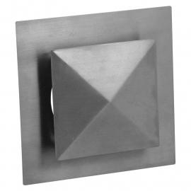 Ventilatierooster vierkant model Ø 100mm, met pyramide kap
