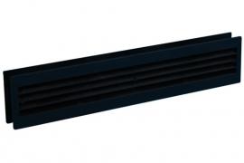 Deurventilatierooster 455x90mm, zwart