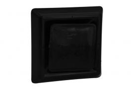 Vierkant afzuigventiel met klemmen Ø 100mm, zwart