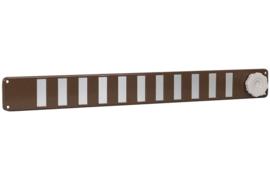 Schuifrooster 370x40mm, bruin