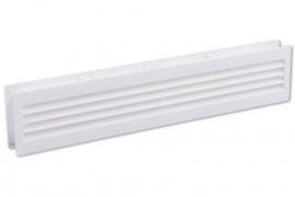 Deurventilatierooster 455x90mm, wit