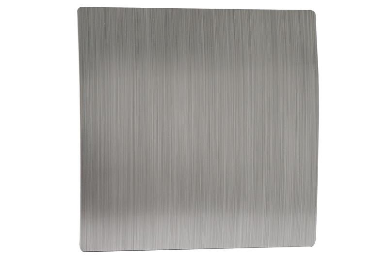 Voorfront tbv designventilator/designrooster Ø 100mm, Zilver kunststof ( gebogen )