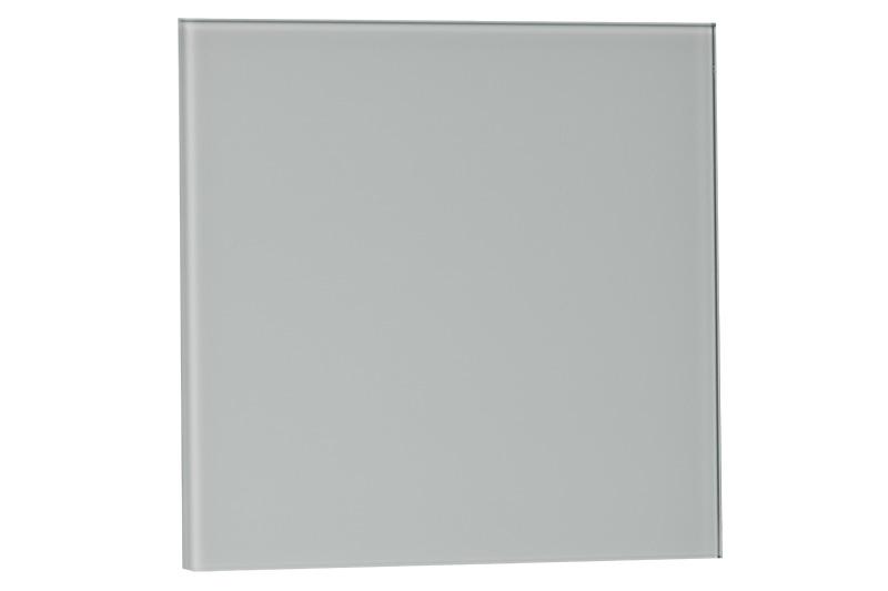 Voorfront tbv designventilator/designrooster Ø 100mm, Mat wit Glas ( vlak )