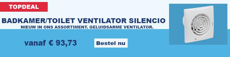 Geluidsarme Nedco ventilator Silencio