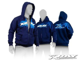Xray Sweater Hooded Zipper - Blue X395600 (MAAT)