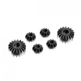 Graphite Gear Diff Bevel & Sattelite Gears (2+4) X304931