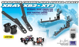 GRAPHITE CHASSIS SIDE GUARD BRACE X321263