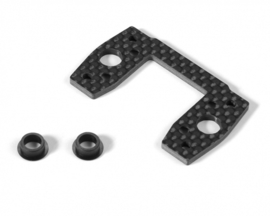 XT8 GRAPHITE CENTER DIFF MOUNTING PLATE X354057