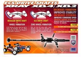X365300ECS REAR DRIVE SHAFT 81MM - HUDY SPRING STEEL