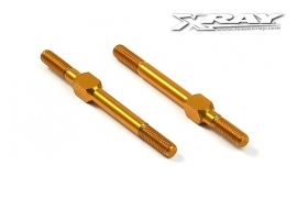 X302612-O	Alu Adj. Turnbuckle M3 L/R 39 Mm - Orange - Swiss 7075 T6 (2