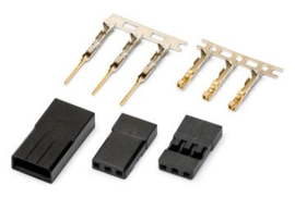 Connectors male/ female gold plated pair JR/SAN01