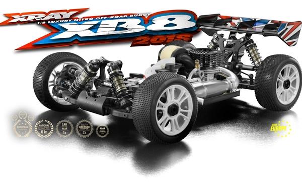 XRAY XB8 - 2018 SPECS - 1/8 LUXURY NITRO OFF-ROAD CAR X350013