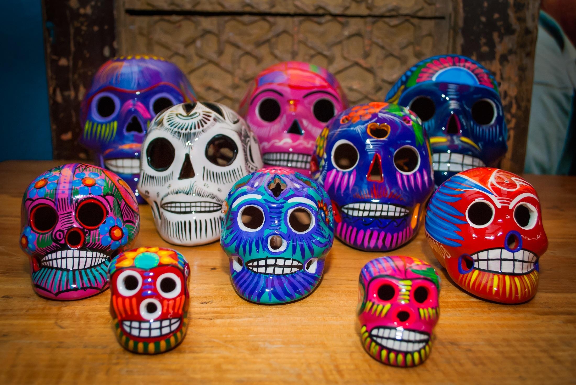 Skull beschilderd