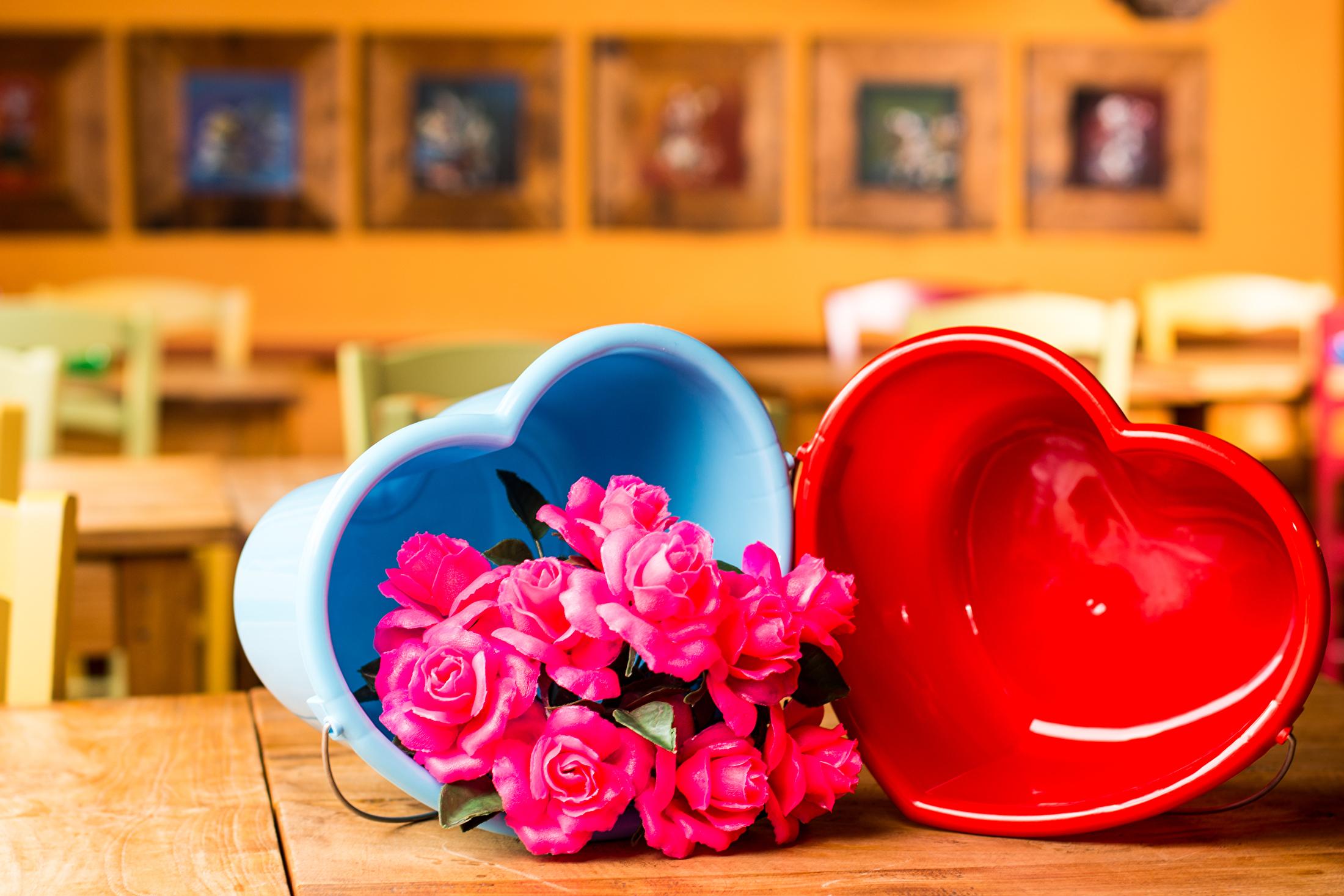 valentijn emmer met rozen