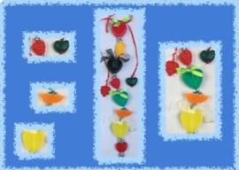 Zeepketting met zeepfruitjes