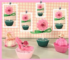 Workshop cupcake's met bloem