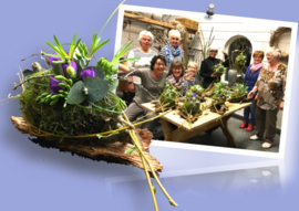 Foto's workshop bloemschikken